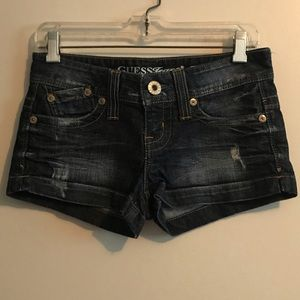 GUESS jean shorts, size 26. Barely worn!